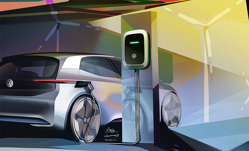 Vokswagan-Electric-car