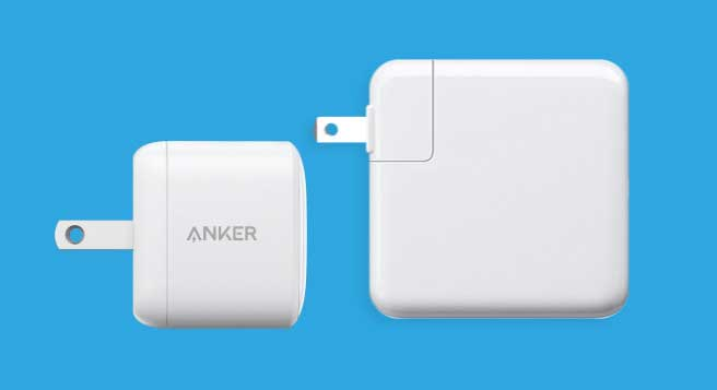 An example of how small a GaN charger could be against some larger traditional chargers