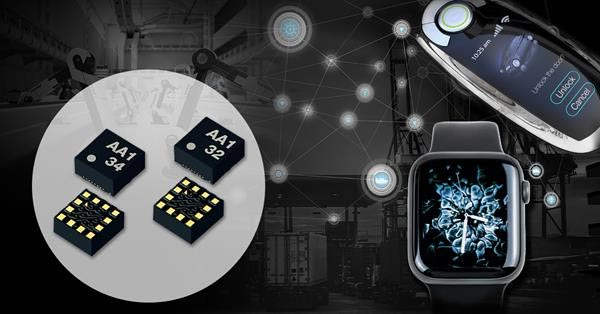 Kionix's KX134 accelerometers are ideal in machine health, logistics tracking in industrial equipment, wearables and automotive smart keys.